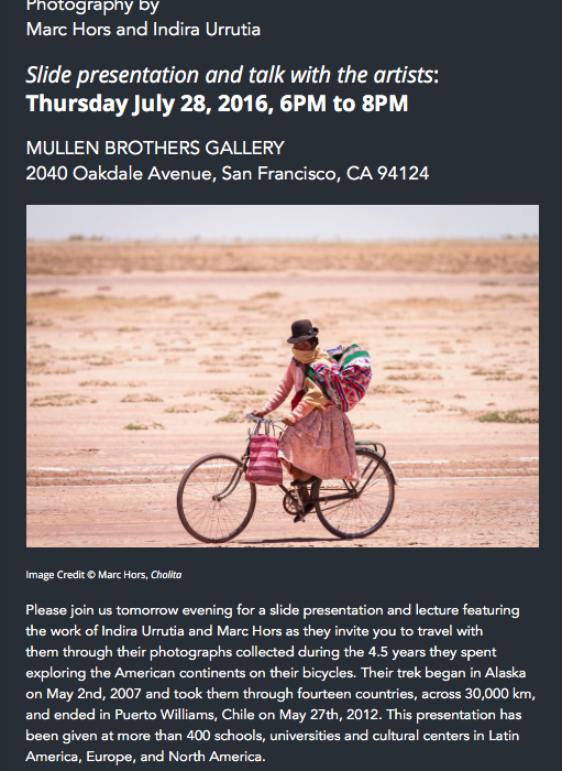 the gaze from the bicycle at mullen brothers imaging