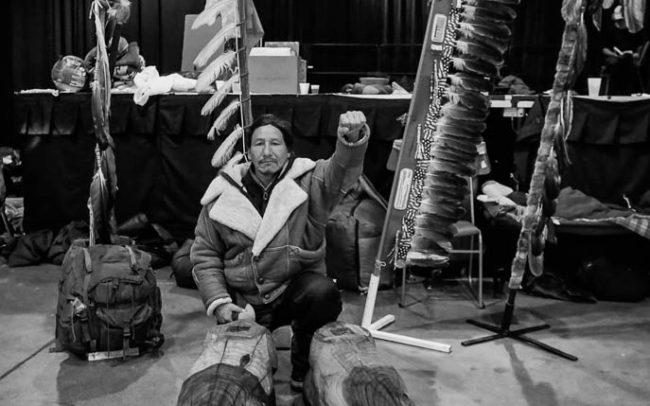 Native Americans supports Leonard Peltier Statue project at Standing Rock