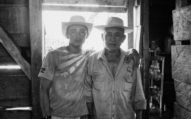 Father and son farmers, Panama